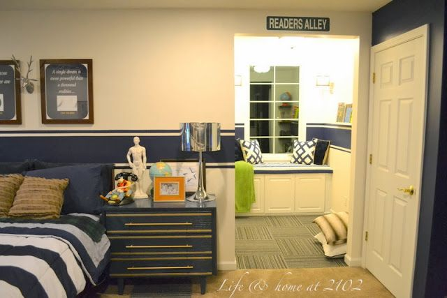 Great Blue Color Boys Bedroom Love the Reader's Alley