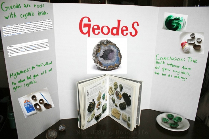 Stacy creates a geodes science fair project with her sons