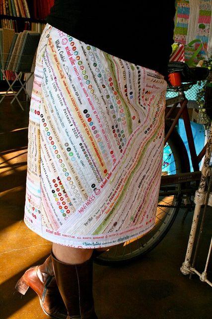 Adorable selvedge skirt!
