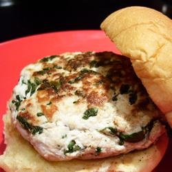 Goat Cheese and Spinach Turkey Burgers Allrecipes.com