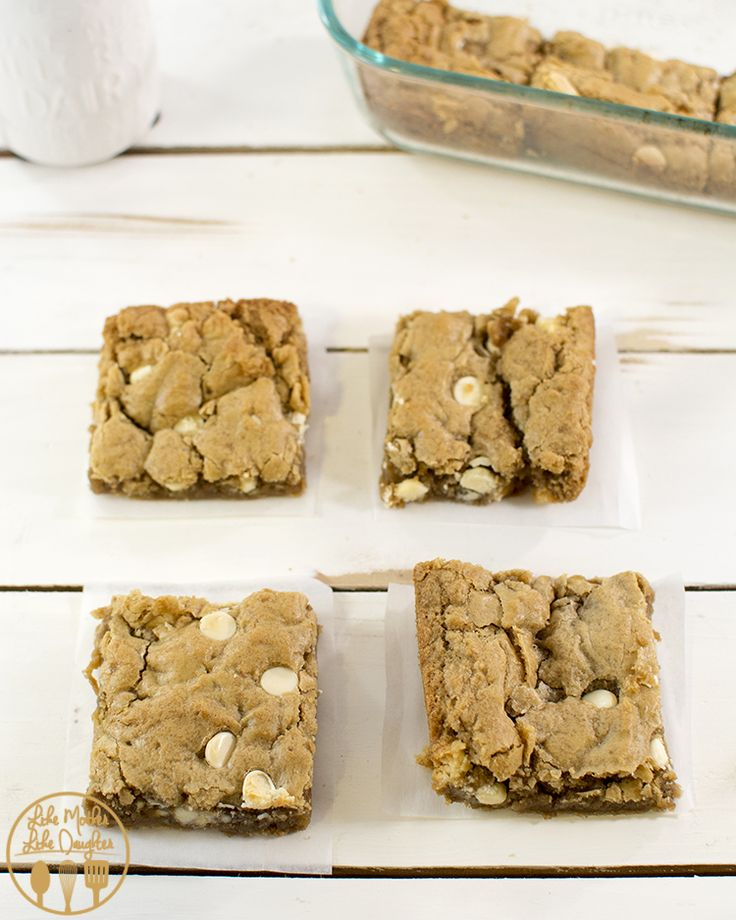 White Chocolate Biscoff Blondies Recipe — Dishmaps