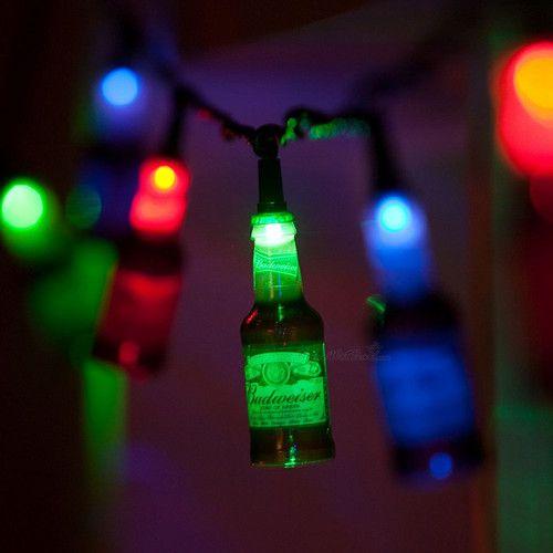 Beer Party String Lights : Budweiser light set of 10 feet string lights bar beer rv camper