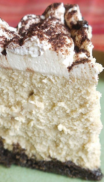 Cappuccino Cheesecake Recipe Note to self: I think this recipe should ...