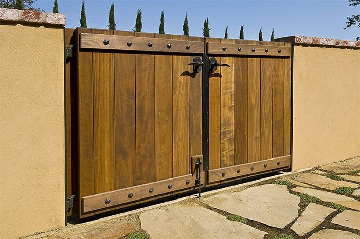 Building a wood gate gates and fencing pinterest for Wooden garden gates designs
