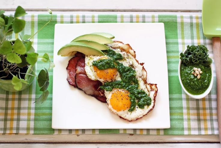 Green Eggs and Ham: Kale Pesto! | Paleo breakfast | Pinterest