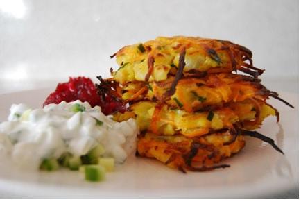 sweet potato and cauliflower latke | Food | Pinterest