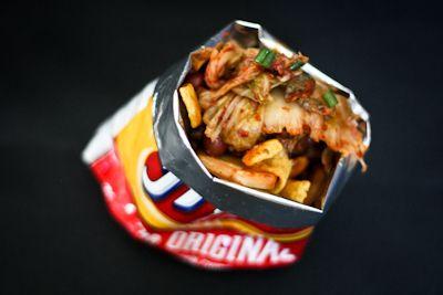 Kimchi frito pie with kimchi chili by fritesandfries