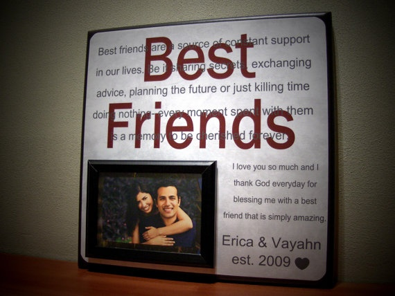 Best friends picture frame anniversary gift husband for Best friend anniversary gift ideas
