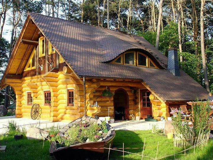 Cute Log Cabins Rustic Decor Pinterest