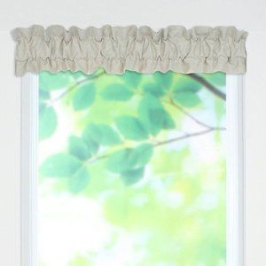 Chooty and co linen natural curtain valance