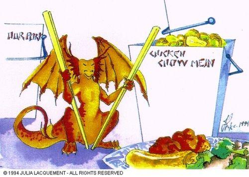 Dragon eating chinese food | Dragons | Pinterest