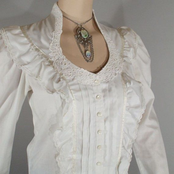 White Steampunk Blouse 94