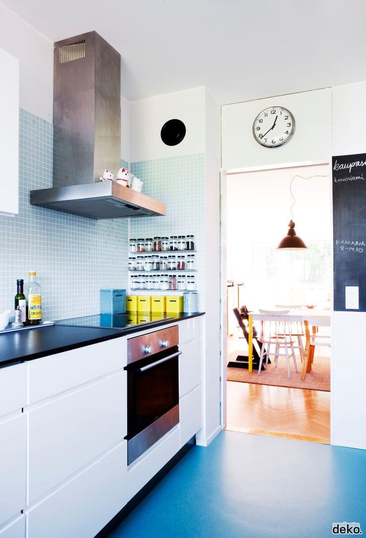 Blue Kitchen | Scandinavian Deko