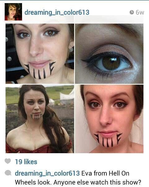 Hell On Wheels Chin Tattoo