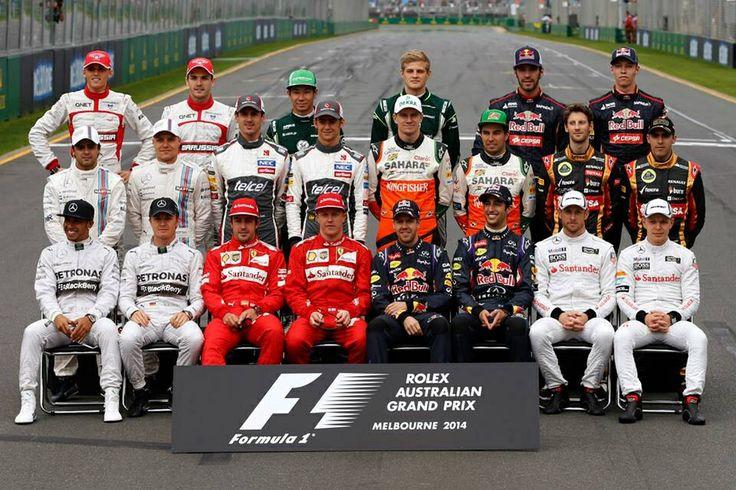 formula 1 drivers line up 2015