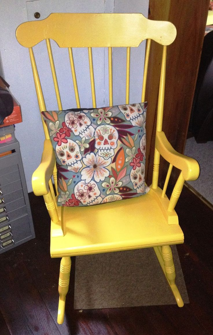 painted rocking chair 4  Theres No Place Like Home  Pinterest