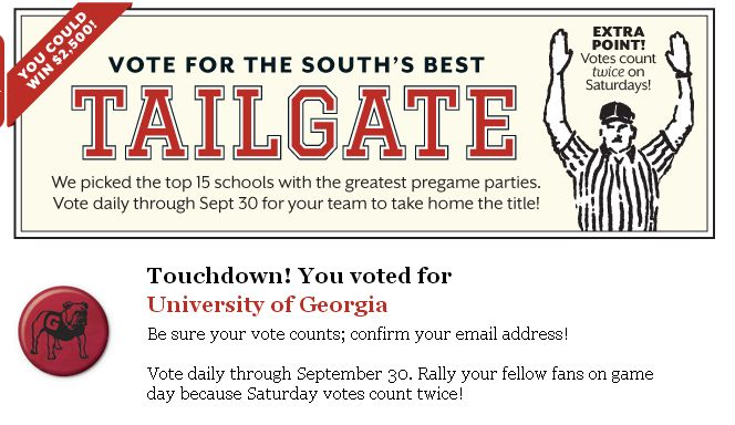 for southern living 39 s south 39 s best tailgate contest