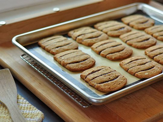 Peanut butter and jelly icebox cookies. Or, as I would say, #peanut ...