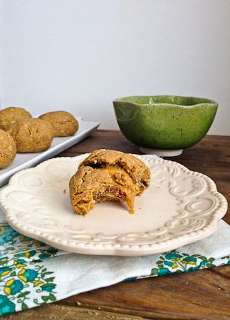 Peanut Butter Cookies Stuffed with Peanut Butter Stuffed Dates - WW ...