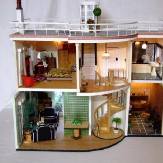 Deco Doll House Interior Dolls House Pinterest