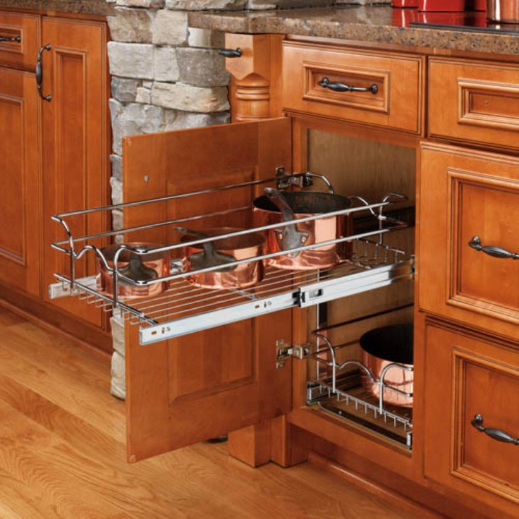 Rev a shelf pull out 2 tier wire basket www for Baskets for kitchen cabinets
