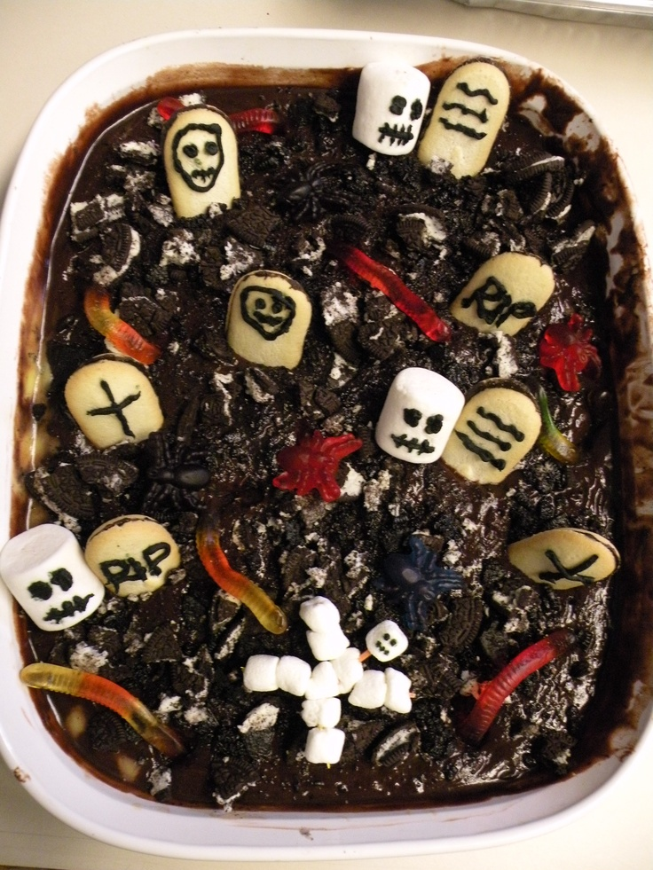 Halloween dirt graveyard for the kiddies | Halloween | Pinterest
