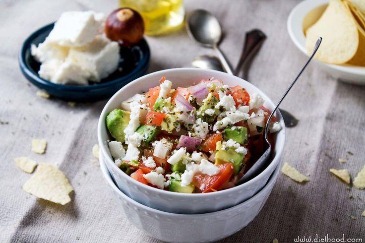 Avocado Feta Salsa. Or maybe a side dish salad. #avocado #feta