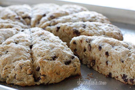 Skinny Chocolate Chip Buttermilk Scones | Breakfast | Pinterest