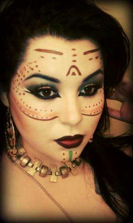 Warrior Princess Makeup Aztec princess makeup....