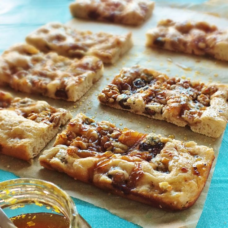 """... and blue cheese focaccia bread, drizzled with honey."""" from Dave Bakes"""