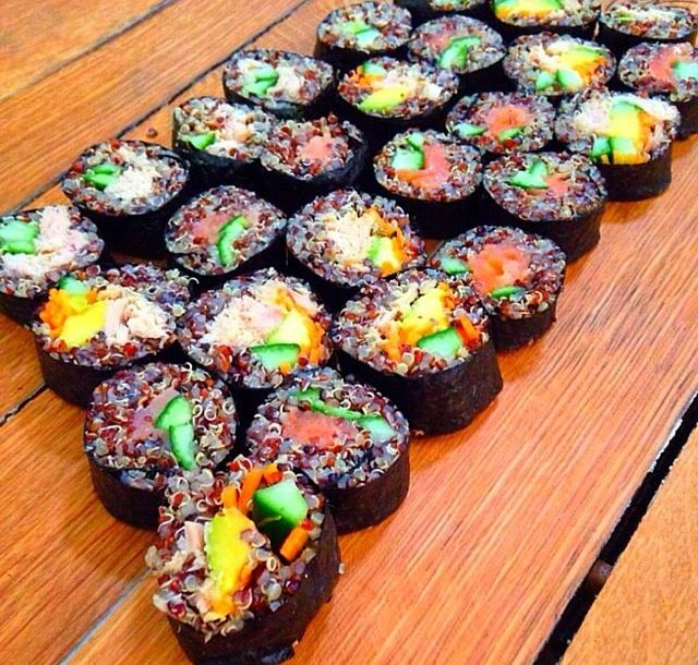 quinoa sushi | food & drinks for thought | Pinterest