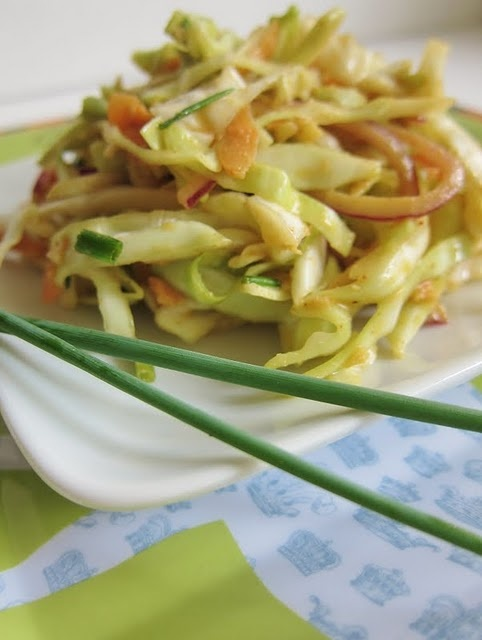 Asian Cole Slaw with Wasabi Dressing | Asian Cooking | Pinterest