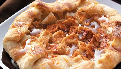 Rustic Caramel Apple Tart-I cheat and use a ready made fresh or frozen ...