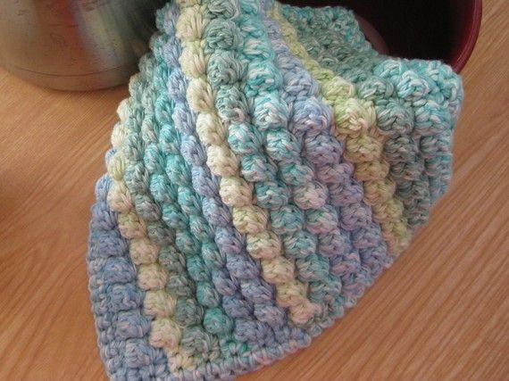 Crochet Nubby Stitch : Chubby Nubby Dish Cloth Wash Cloth Crochet Pattern pdf