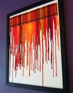 Interesting abstract with melted crayons. Use color scheme of house