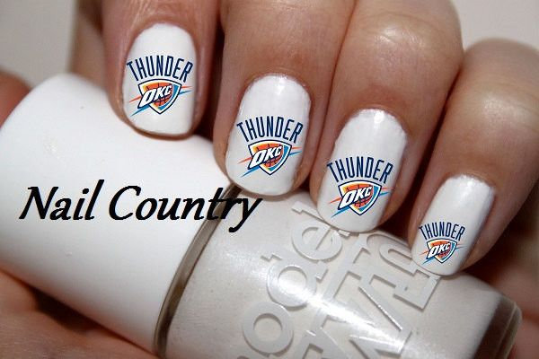 OKC Thunder Nail Decals Nail Art Nail Stickers Best Price NC392