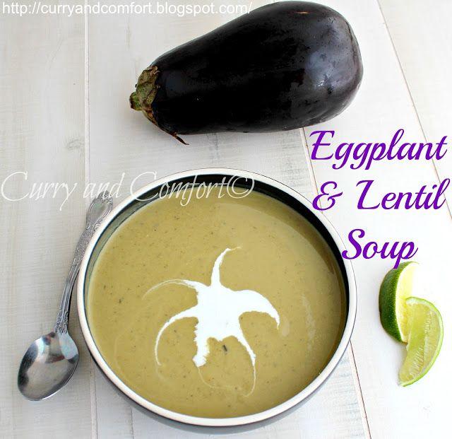 Curried eggplant and lentils soup   Soups   Pinterest
