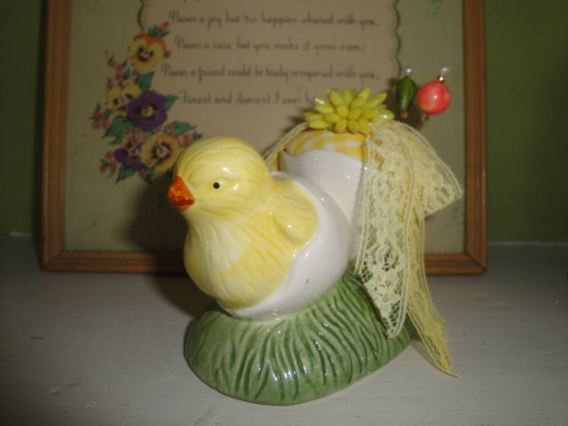 egg cup chicken pin cushion | teacup pin cushions | Pinterest
