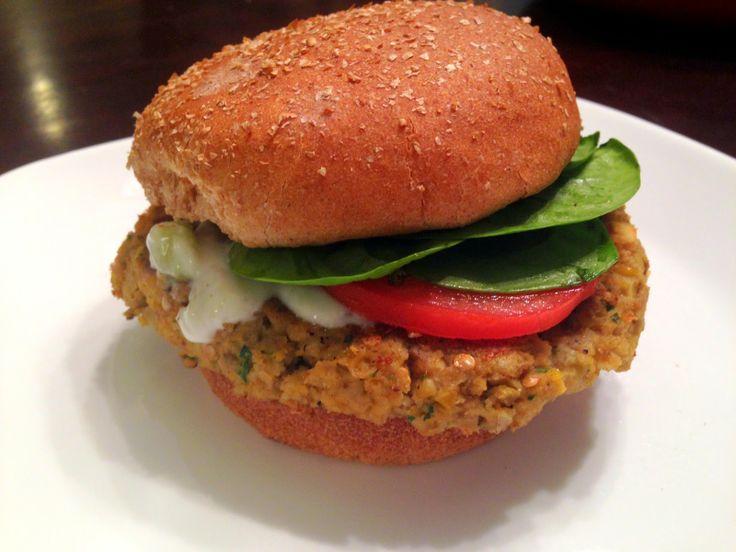 "Healthy Eggplant Falafel ""Burgers"" | Healthy pickings | Pinterest"
