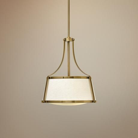"Hinkley Charlotte 16"" Wide Brushed Caramel Pendant -"