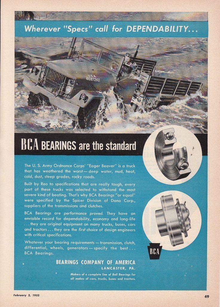 1952 BCA Bearings Lanc...