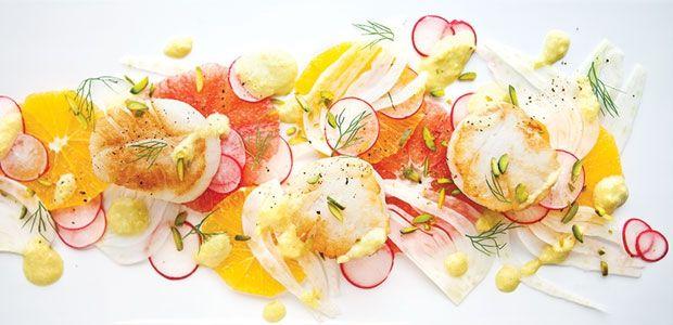 ... citrus scallop summer salad recipes dishmaps citrus scallop summer