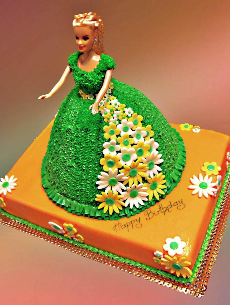 Торт кукла барби пошагово