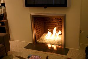 Fireplaces With Glass Rocks Glass Rocks In Fireplace Hawaii Home Style Pinterest