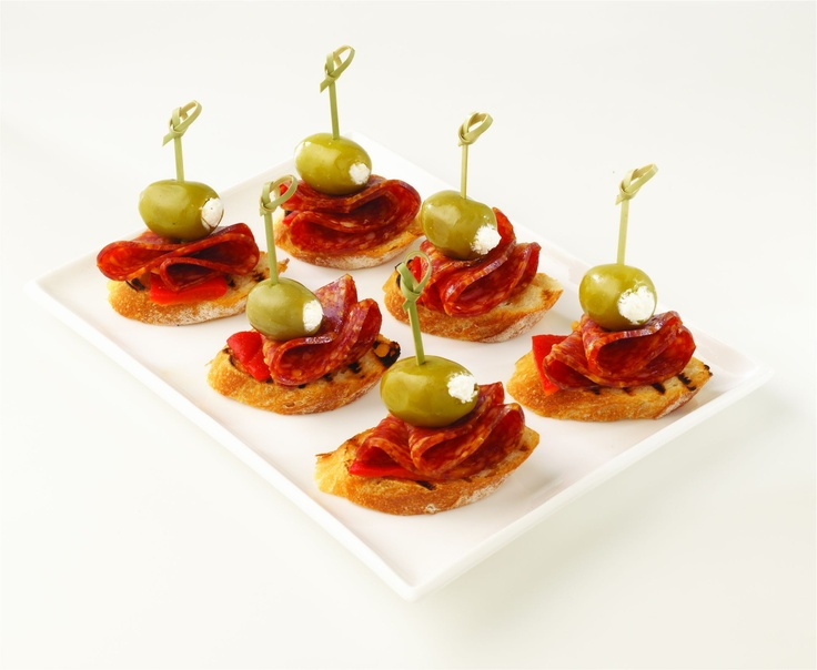 Olive salami canapes christmas day canapes pinterest for Christmas canape