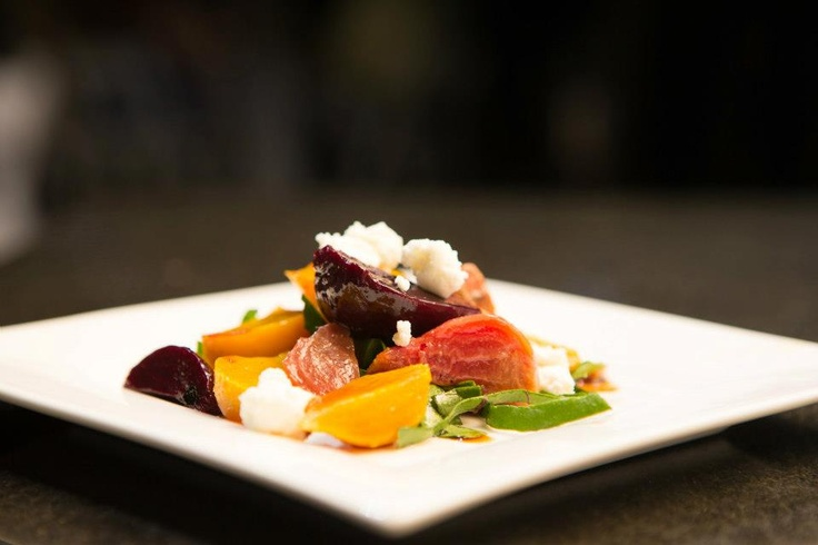 ... Greens With Goat Cheese, Beets And Candied Pecans Recipes — Dishmaps
