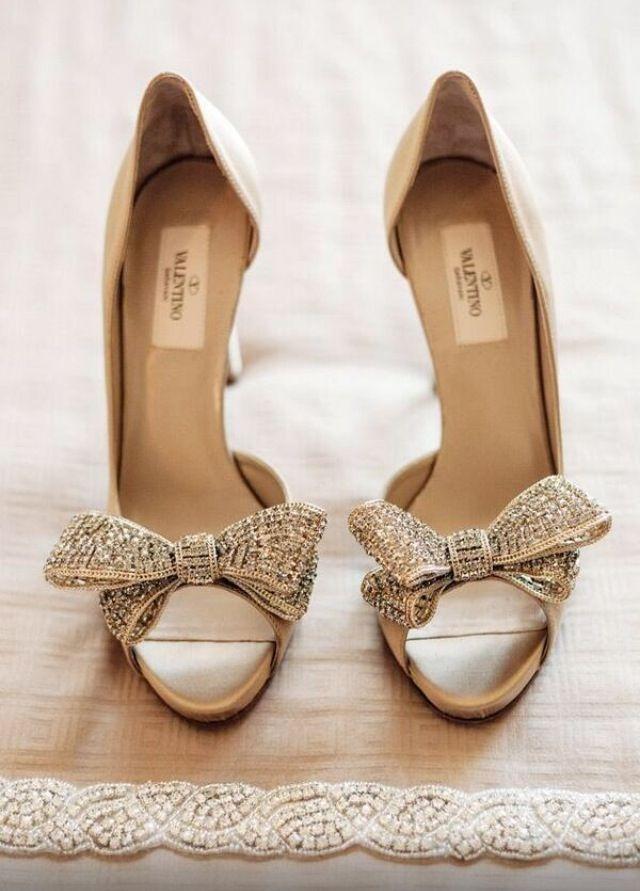 Valentino bow wedding shoes