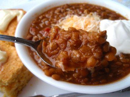 Lentil chili | Yummy in my Tummy | Pinterest