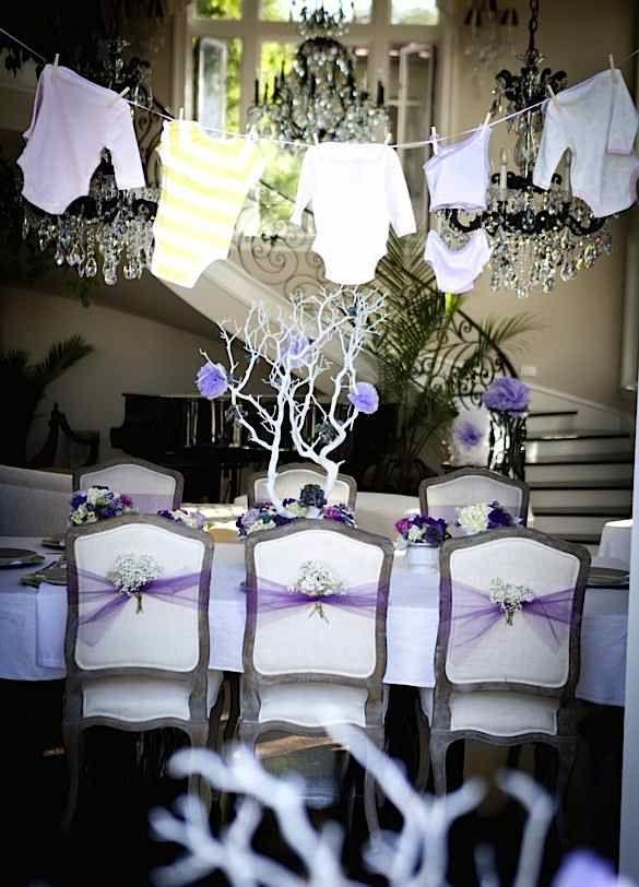 pretty purple girl elegant baby shower planning ideas
