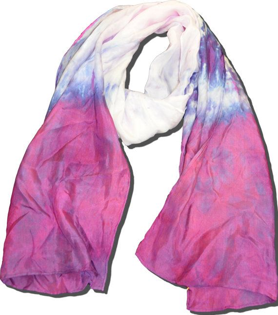 Hand Dip Dyed Ombre Violet Scarf  14x72 by MeganKayDesign on Etsy, $75.00